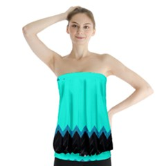 Pattern Digital Painting Lines Art Strapless Top