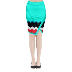 Pattern Digital Painting Lines Art Midi Wrap Pencil Skirt