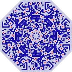 Digital Computer Graphic Qr Code Is Encrypted With The Inscription Hook Handle Umbrellas (medium)