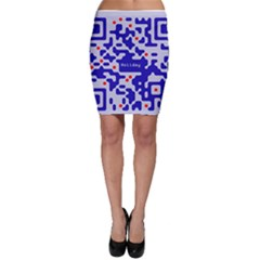 Digital Computer Graphic Qr Code Is Encrypted With The Inscription Bodycon Skirt