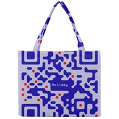 Digital Computer Graphic Qr Code Is Encrypted With The Inscription Mini Tote Bag