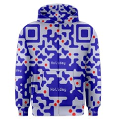 Digital Computer Graphic Qr Code Is Encrypted With The Inscription Men s Zipper Hoodie