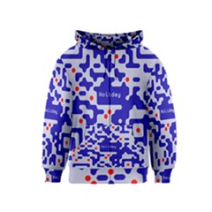 Digital Computer Graphic Qr Code Is Encrypted With The Inscription Kids  Zipper Hoodie