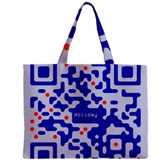 Digital Computer Graphic Qr Code Is Encrypted With The Inscription Zipper Mini Tote Bag
