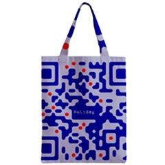 Digital Computer Graphic Qr Code Is Encrypted With The Inscription Zipper Classic Tote Bag