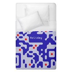 Digital Computer Graphic Qr Code Is Encrypted With The Inscription Duvet Cover (single Size)