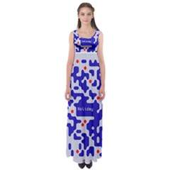 Digital Computer Graphic Qr Code Is Encrypted With The Inscription Empire Waist Maxi Dress
