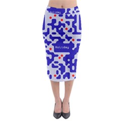 Digital Computer Graphic Qr Code Is Encrypted With The Inscription Midi Pencil Skirt