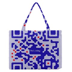 Digital Computer Graphic Qr Code Is Encrypted With The Inscription Medium Zipper Tote Bag