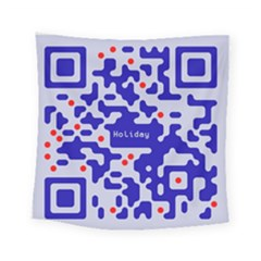 Digital Computer Graphic Qr Code Is Encrypted With The Inscription Square Tapestry (small)