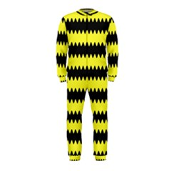 Yellow Black Chevron Wave Onepiece Jumpsuit (kids)