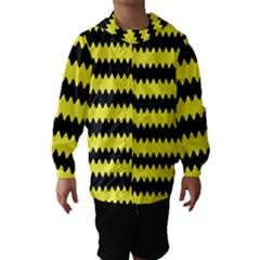 Yellow Black Chevron Wave Hooded Wind Breaker (kids)