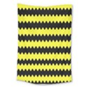 Yellow Black Chevron Wave Large Tapestry View1