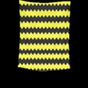 Yellow Black Chevron Wave Large Tapestry View2