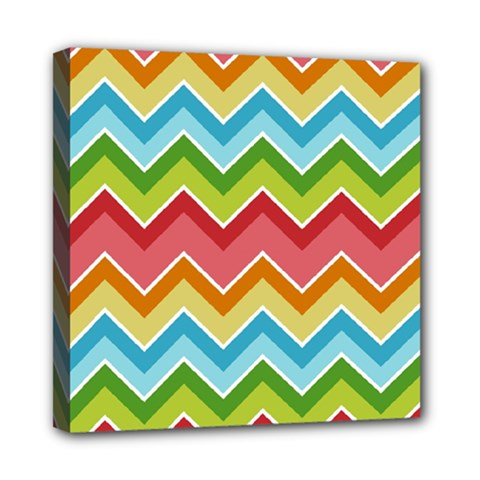 Colorful Background Of Chevrons Zigzag Pattern Mini Canvas 8  x 8