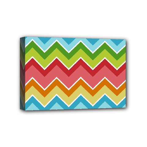 Colorful Background Of Chevrons Zigzag Pattern Mini Canvas 6  X 4