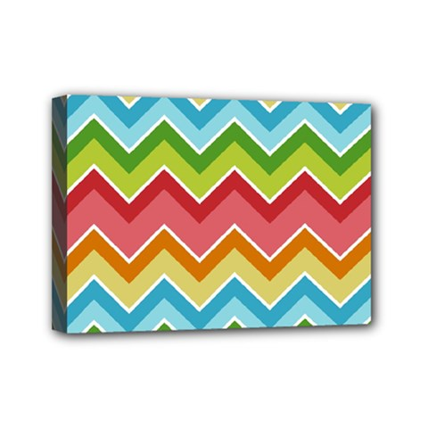 Colorful Background Of Chevrons Zigzag Pattern Mini Canvas 7  X 5