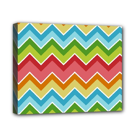 Colorful Background Of Chevrons Zigzag Pattern Canvas 10  x 8