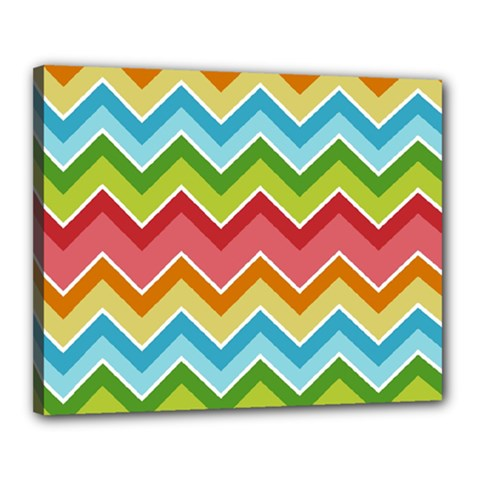 Colorful Background Of Chevrons Zigzag Pattern Canvas 20  X 16