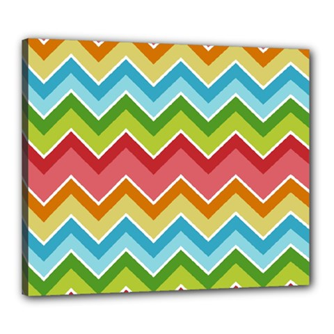 Colorful Background Of Chevrons Zigzag Pattern Canvas 24  X 20