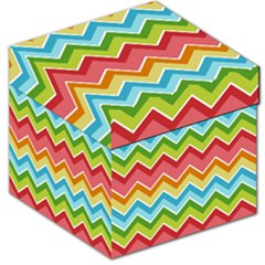Colorful Background Of Chevrons Zigzag Pattern Storage Stool 12