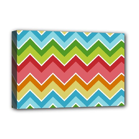 Colorful Background Of Chevrons Zigzag Pattern Deluxe Canvas 18  X 12