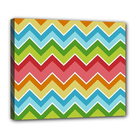 Colorful Background Of Chevrons Zigzag Pattern Deluxe Canvas 24  x 20