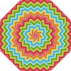 Colorful Background Of Chevrons Zigzag Pattern Hook Handle Umbrellas (Small)