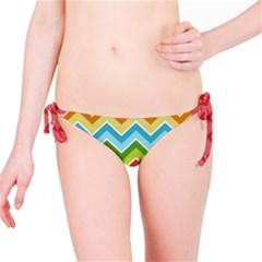 Colorful Background Of Chevrons Zigzag Pattern Bikini Bottom