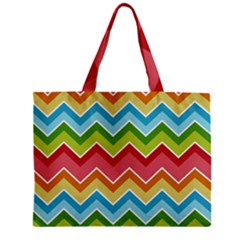 Colorful Background Of Chevrons Zigzag Pattern Mini Tote Bag