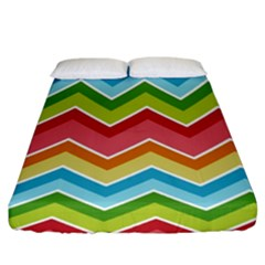 Colorful Background Of Chevrons Zigzag Pattern Fitted Sheet (king Size)