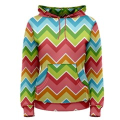 Colorful Background Of Chevrons Zigzag Pattern Women s Pullover Hoodie