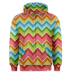 Colorful Background Of Chevrons Zigzag Pattern Men s Zipper Hoodie