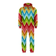 Colorful Background Of Chevrons Zigzag Pattern Hooded Jumpsuit (kids)