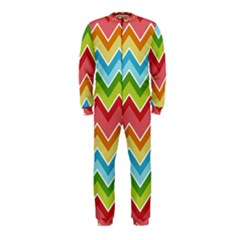 Colorful Background Of Chevrons Zigzag Pattern OnePiece Jumpsuit (Kids)