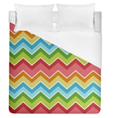 Colorful Background Of Chevrons Zigzag Pattern Duvet Cover (queen Size)