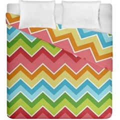 Colorful Background Of Chevrons Zigzag Pattern Duvet Cover Double Side (king Size)