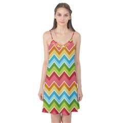 Colorful Background Of Chevrons Zigzag Pattern Camis Nightgown