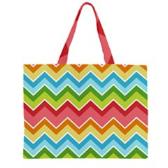 Colorful Background Of Chevrons Zigzag Pattern Large Tote Bag