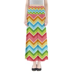 Colorful Background Of Chevrons Zigzag Pattern Maxi Skirts