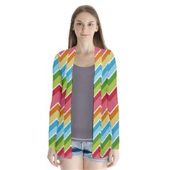 Colorful Background Of Chevrons Zigzag Pattern Cardigans