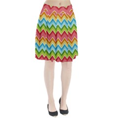 Colorful Background Of Chevrons Zigzag Pattern Pleated Skirt