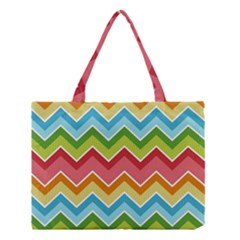 Colorful Background Of Chevrons Zigzag Pattern Medium Tote Bag