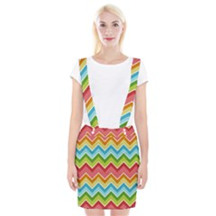 Colorful Background Of Chevrons Zigzag Pattern Suspender Skirt