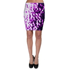 Bokeh Background In Purple Color Bodycon Skirt