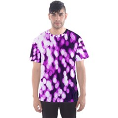 Bokeh Background In Purple Color Men s Sport Mesh Tee