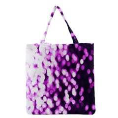 Bokeh Background In Purple Color Grocery Tote Bag