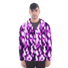 Bokeh Background In Purple Color Hooded Wind Breaker (men)