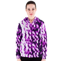 Bokeh Background In Purple Color Women s Zipper Hoodie