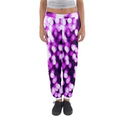 Bokeh Background In Purple Color Women s Jogger Sweatpants